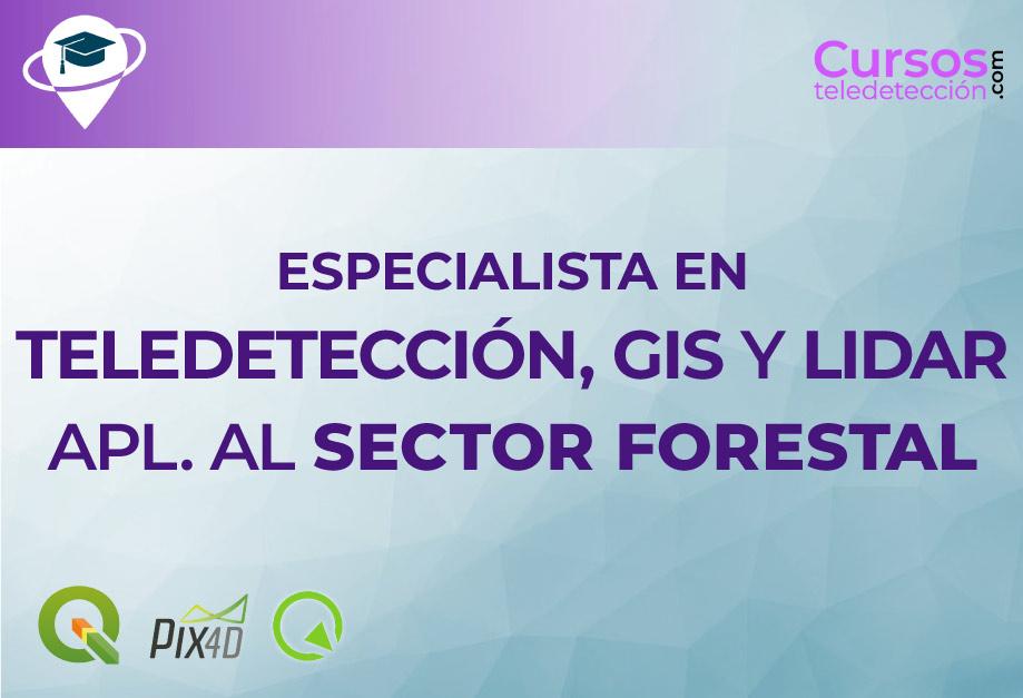 CURSO DE ESPECIALISTA EN TELEDETECCIÓN, GIS Y LIDAR APLICADO AL SECTOR FORESTAL CON QGIS